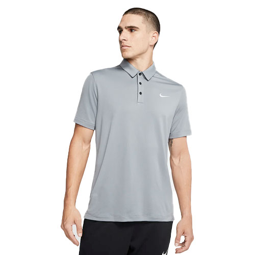 Men's Short Sleeve Polo Shirt, Heather Gray, swatch