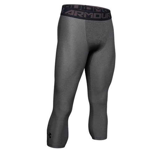 Men's Heargear Armour 2.0 3/4 Leggings, Charcoal,Smoke,Steel, swatch