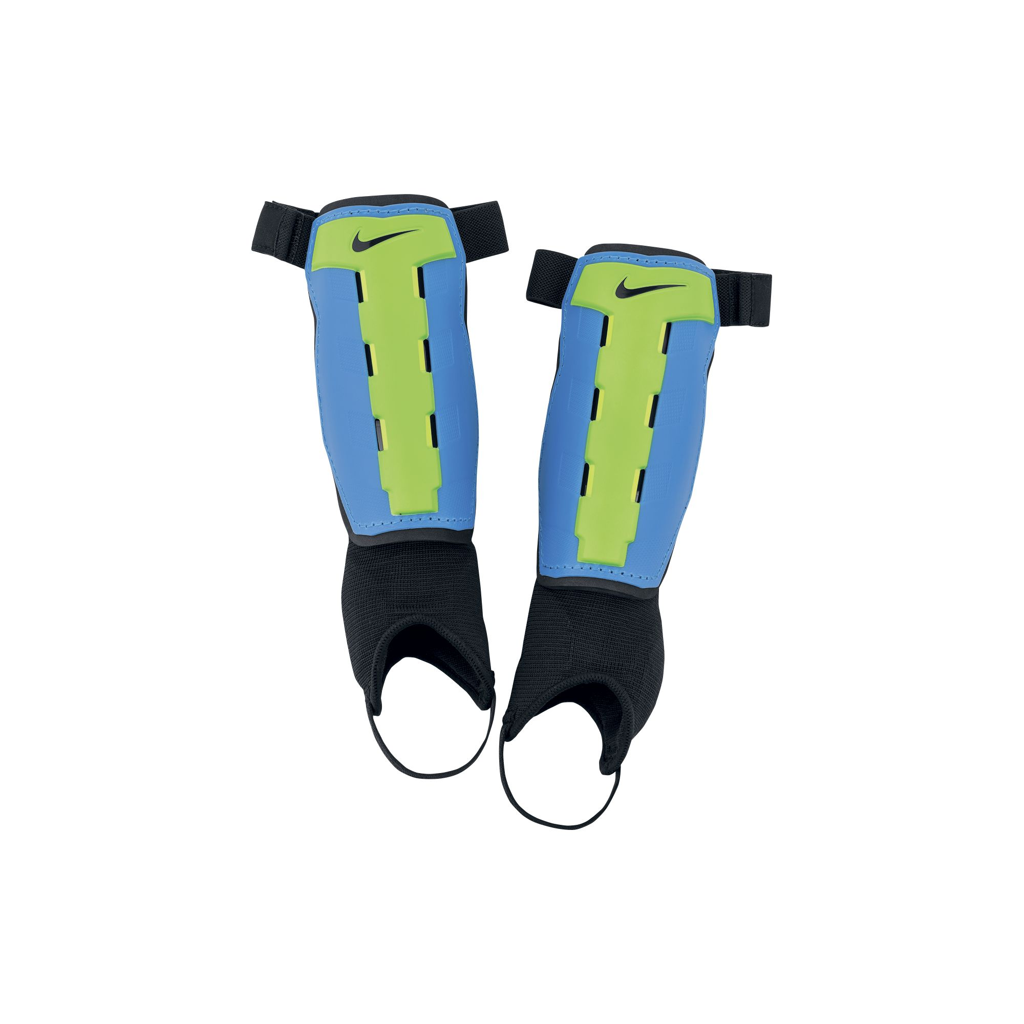 Youth Charge Shin Guards, Blue/Green, swatch
