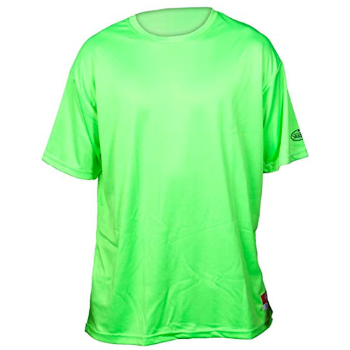Youth Slugger Solid Short Sleeve Shirt, Lime, swatch