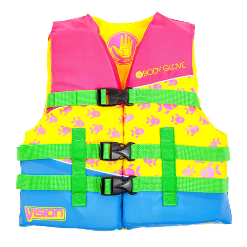 Youth Vision Vest 50-90lbs, Pink, swatch