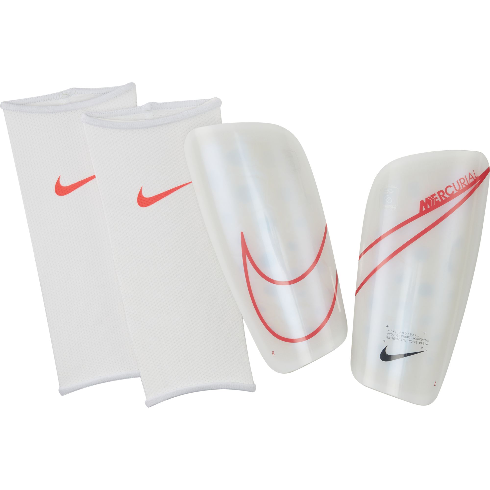 Mercurial Lite Shin Guards, White/Red/Black, swatch