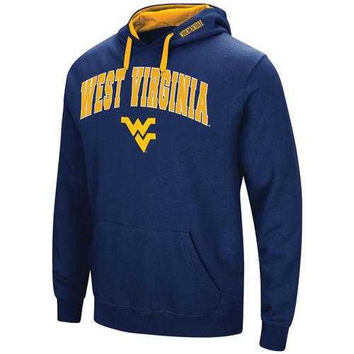 Men's West Virgina Tackle Twill Hoodie, Team, swatch
