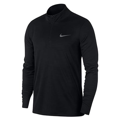 Men's Superset Long Sleeve 1/4 Zip Training Top, Black, swatch