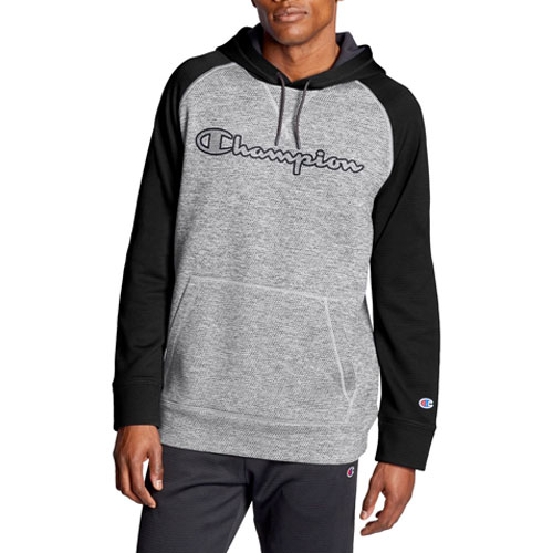 Men's Stadium Fleece Raglan Hoodie, Charcoal,Smoke,Steel, swatch