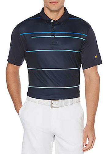 Men's Energy Striped Polo, Blue, swatch
