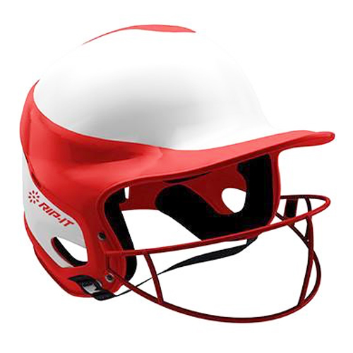 Vision Pro Softball Helmet with Mask, Red, swatch