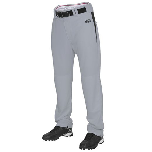 Men's BPVP2 Plated Baseball Pant, Gray/Black, swatch