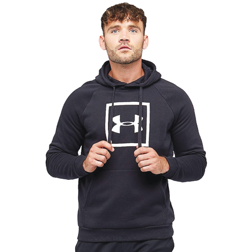 Men's Rival Fleece Logo Hoodie, Black, swatch