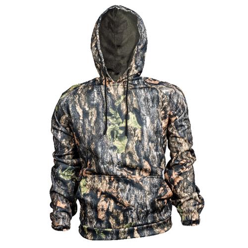 Men's Hooded Camo Sweatshirt, Camouflage Tree Bark, swatch