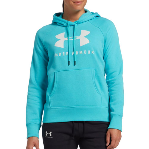 Women's Rival Fleece Tonal Grapic Hoodie, Lt Blue,Powder,Sky Blue, swatch