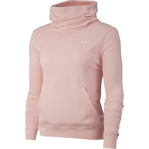 Women's Funnel-Neck Fleece Hoodie, Pastel Pink,Theatrical, swatch