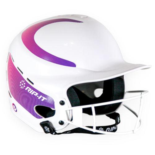 Vision Fastpitch Helmet, White/Purple, swatch