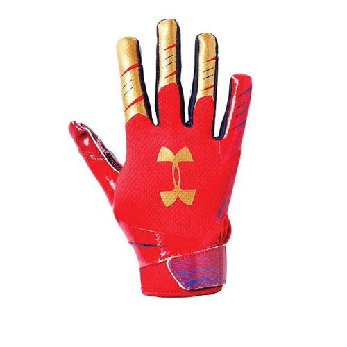 Youth F7 Novelty Football Gloves, Red, White And Blue, swatch