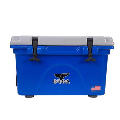 26qt Roto-molded Cooler, Blue/Silver, swatch