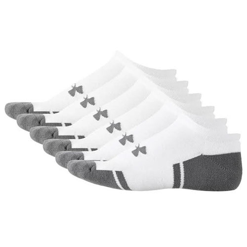 Resistor 3.0 No Show Sock 6-Pack, White, swatch