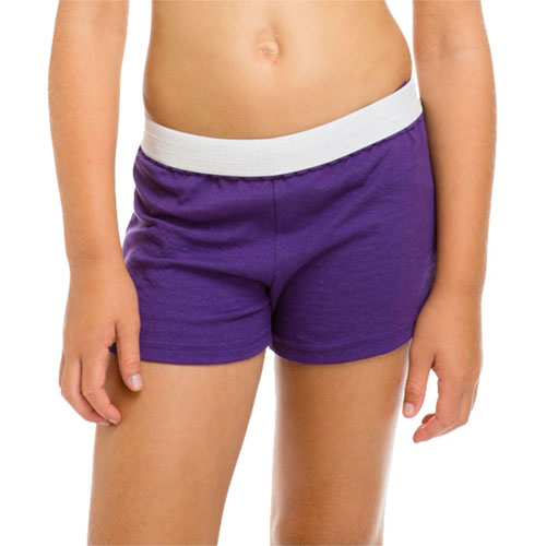Women's Cheer Short, Purple, swatch