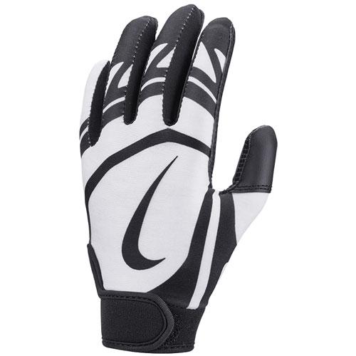 Youth T-Ball Alpha Huarache Edge Batting Gloves, Black/White, swatch