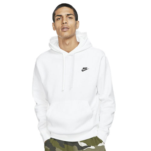 Men's Sportswear Club Fleece Pullover Hoodie, White, swatch