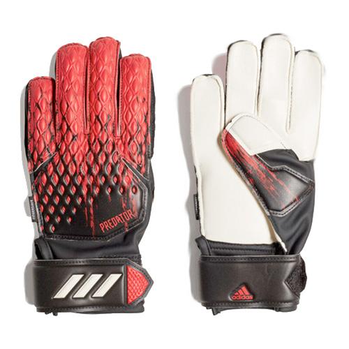 Predator Junior 20 Match Fingersave Gloves, Black/Red, swatch