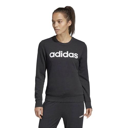 Women's Essentials Linear Training Sweatshirt, Black/White, swatch