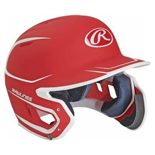 Senior MACH 2-Tone Batting Helmet, Red, swatch