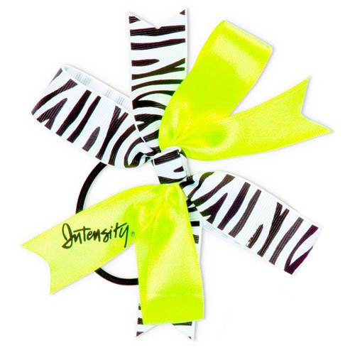 Women's Windmill Hair Bow, Black/Yellow, swatch