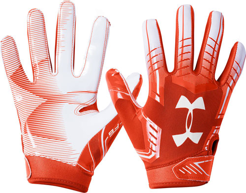 Adult F6 Football Glove, Orange/White, swatch