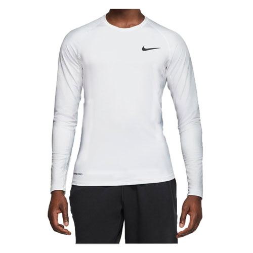 Men's Slim Fit Long-Sleeve Top, White, swatch