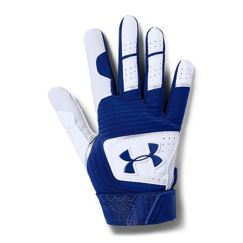 Tee-Ball Clean Up Batting Gloves, White/Blue, swatch