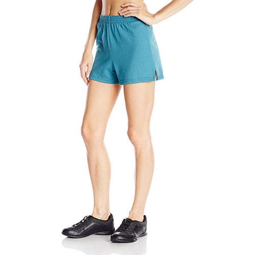 Women's Cheer Shorts, Green Blue, Teal, swatch
