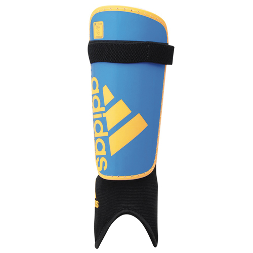 Youth Ghost Soccer Shin Guards, Blue/Yellow, swatch
