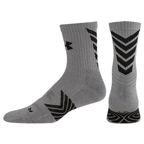 Undeniable Mid Crew Sock, Gray/Black, swatch