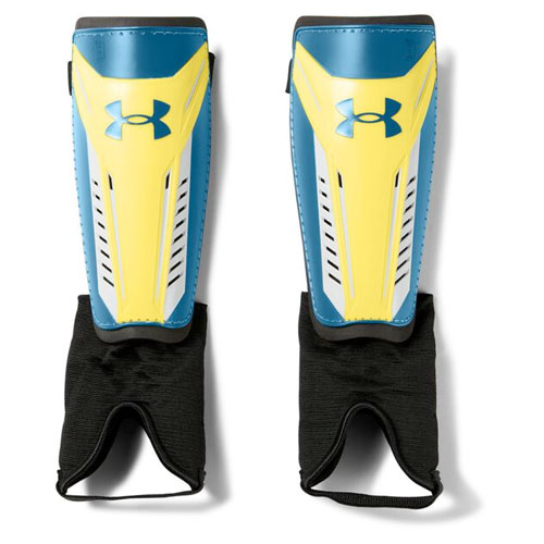 Adult Challenge 2.0 Shin Guard, Blue/Yellow, swatch