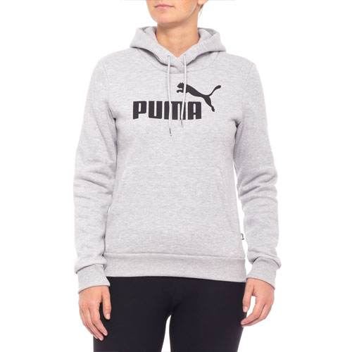 Women's Essentials Logo Fleece Hoodie, Heather Gray, swatch