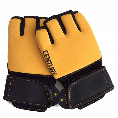 Brave Gel Training Gloves, Black/Gold, swatch
