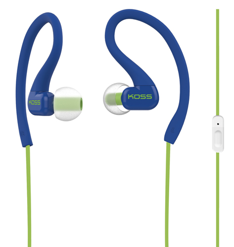 Sports Clip On Buds Ear With Mic, Blue, swatch