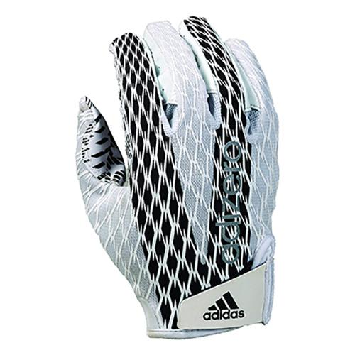 Adizero 4.0 Football Gloves, White, swatch