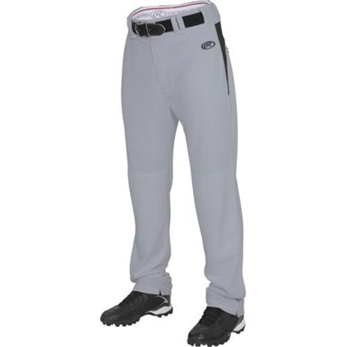 Youth Plated Baseball Pants, Gray/Black, swatch