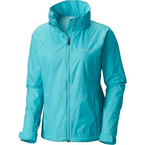 Women's Rainwear Switchback Jacket, Turquoise,Aqua, swatch