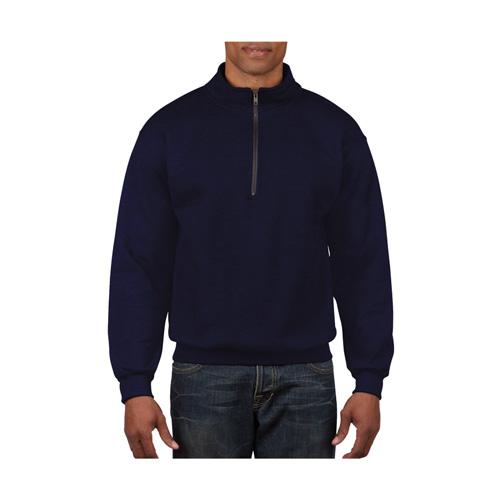 Men's Long Sleeve Quarter Zip Fleece, Navy, swatch