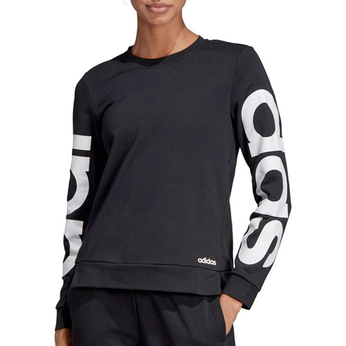 Women's Essentials Brand Sweatshirt, Black/White, swatch