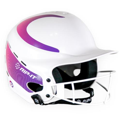 Vision Fastpitch Helmet, White/Purple, swatch