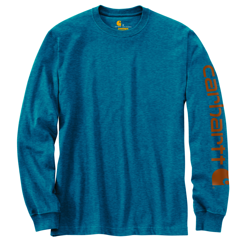 Men's Sleeve Logo Long Sleeve T-shirt, Ocean Blue, swatch