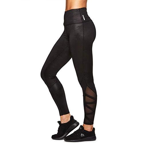 Women's Missy Metallic Leggings, Black/Silver, swatch