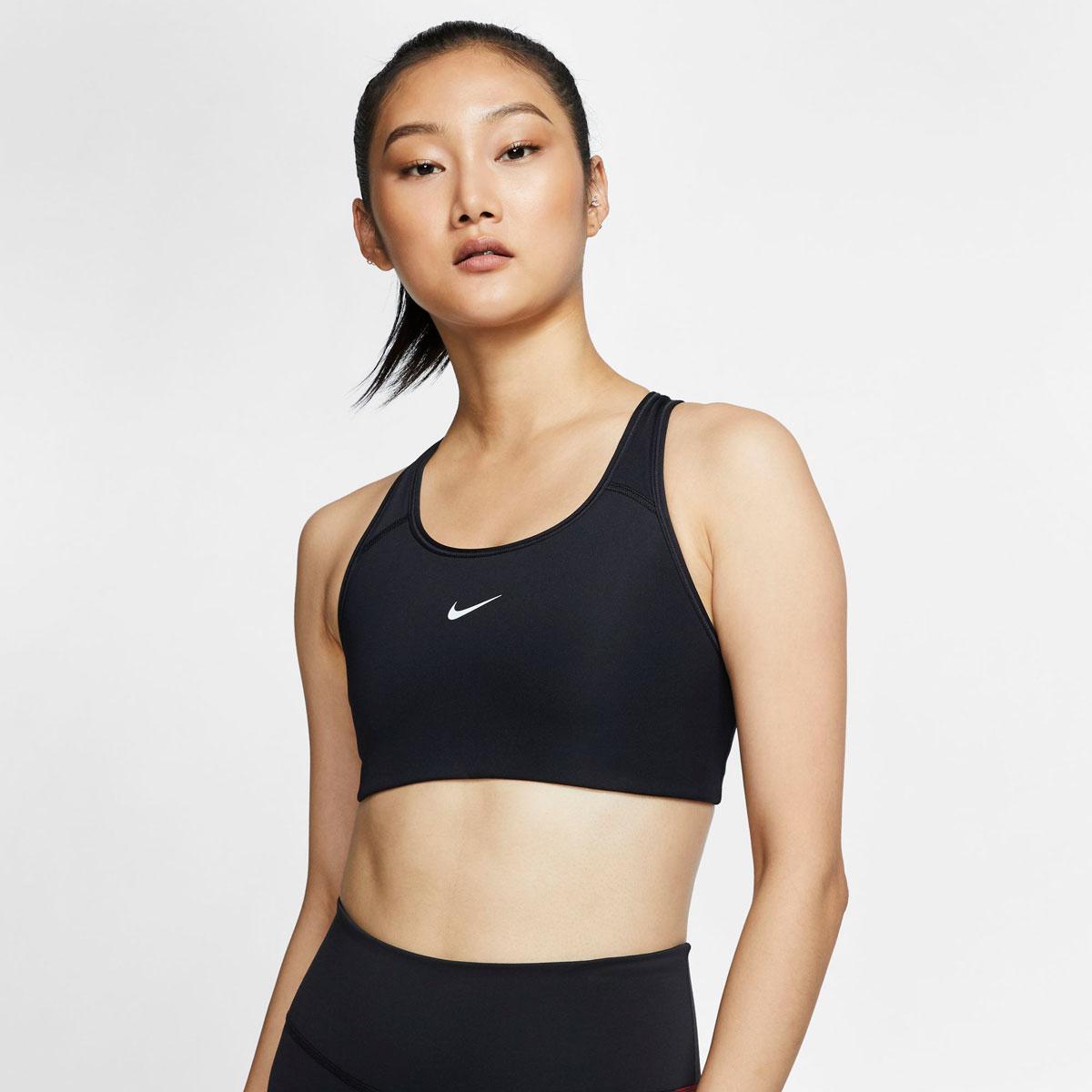 Women's Medium-Support Sports Bra, Black, swatch