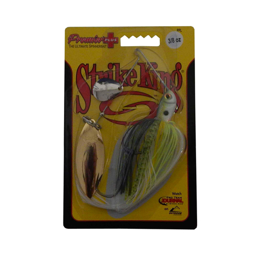 Premier Plus Spinner Bait 3/8oz, Yellow/Silver, swatch