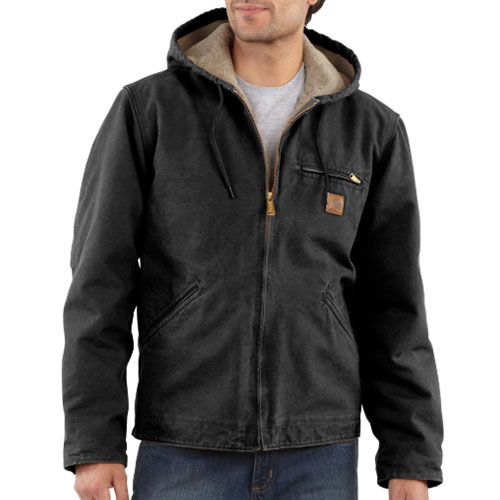 Men's Sandstone Sherpa-Lined Sierra Jacket, Black, swatch