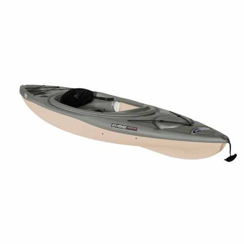 Rise 100X Sit-In Angler Kayak, Black/Brown, swatch