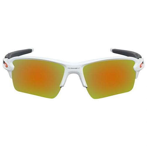 Flak 2.0 XL Fire Iridium Sunglasses, White/Orange, swatch